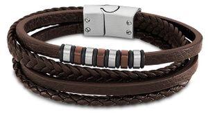 Lotus Style Herren Armband braun LS2101-2/3 mehrreihig Leder