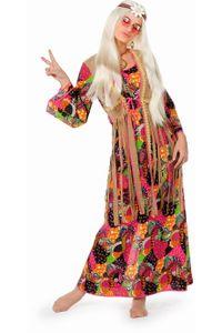 60er Jahre Damen Kostüm langes Hippie Kleid Karneval Fasching Gr.38
