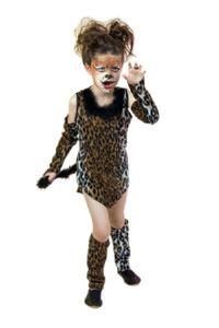 Karneval Kinder Kostüm Wildkatze Mädchen Katze Katzenkostüm Gr. 128