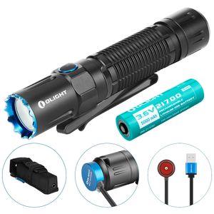 OLIGHT M2R PRO Warrior Taschenlampe 1800 Lumen 300 Metern Reichweite, 21700 Wiederaufladbare Batterie, Dual-Switch LED Taschenlampen für den Outdoor-Haushalt