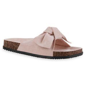 Giralin Damen Sandalen Pantoletten Bequeme Schleifen Schuhe 836675, Farbe: Rosa, Größe: 39