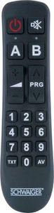 SCHWAIGER -UFB1100 533- 2 IN 1 Universalfernbedienung, Ersatzfernbedienung, Schwarz