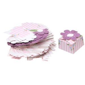 50 Stück Nougat Schokolade Paketkästen Lila
