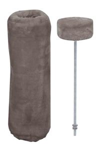 "Nobby Starsystem Deckenspanner + Cover ""De Luxe"" warm grau ø12 x 40 cm"