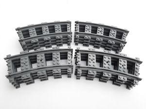 Lego© Steine 16 Lego© City©-Kurven / gebogene Schienen RC *neu und unbespielt*