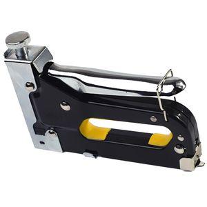 3-in-1 Rostfrei Handtacker Tackerpistole Stift-Nagelpistole zum Fixieren Material und Dekoration, 2 Farben Optional Schwarz wie beschrieben