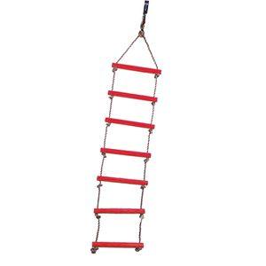 Kinder Strickleiter Kletterleiter Seilleiter mit 6 Prossen für Outdoor-Spiel Spaß Rot wie beschrieben