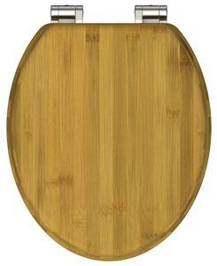 WC-Sitz BAMBUS, massiver Toilettendeckel aus nachhaltigem Rohstoff (Bambus), passend für alle handelsüblichen WC-Becken, maximale Belastung der Klobrille 150 kg