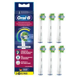 Oral-B Aufsteckbürsten - Tiefenreinigung Clean Maximizer - 6er Pack - weiß