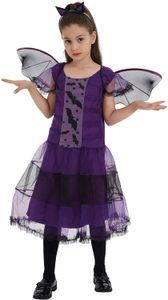 Mädchen Karneval Kostüm Kinder Hexe Fledermaus Kostüm, Fledermaus, 120