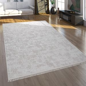 Teppich, Kurzflor-Teppich Für Wohnzimmer Im Orient-Look, Waschbar, Beige, Grösse:150x230 cm