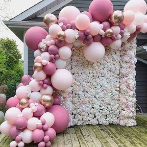 105x Luftballons Ballons Luftballon Luft, Helium pink Hochzeit Deko Dekoration