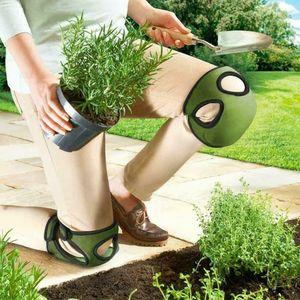1 Paar Knieschoner Gel Knieschützer/Kniepolster/Knieschutz für Haus Garten Grün