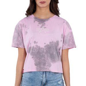 Alpha Industries Damen Basic T-Shirt Batik COS Wmn pastel grey batik XS
