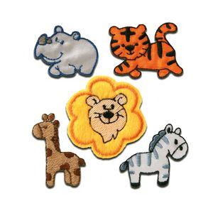 Set Tiere - Aufnäher, Bügelbild, Aufbügler, Applikationen, Patches, Flicken, zum aufbügeln, Größe: verschiedene Größen