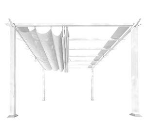 Paragon Aluminium Pavillon 3,5x3,5 m Florida 11x16 weiß Outdoorpavillon Terrassenüberdachung Gartenpavillon