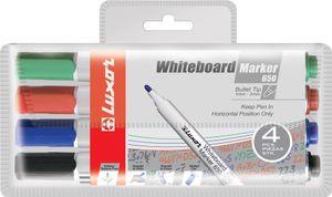 Luxor Whiteboard Marker 650 Rundspitze 4er Etui sortiert
