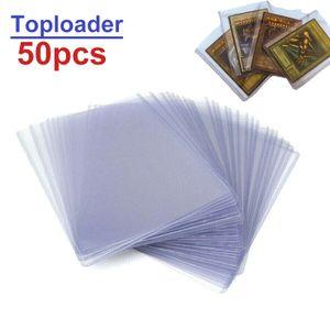 50 Stück Regular Toploader/Hartplastik Card Sleeves/Kartenhülle Pokemon Magic Yugioh  77*101mm