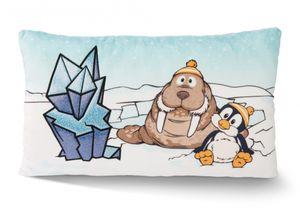 NICI Kuschelkissen Pinguin Peppi und Walross Walbo Wabbel 45741 - NICI Plüschkissen 43x25cm