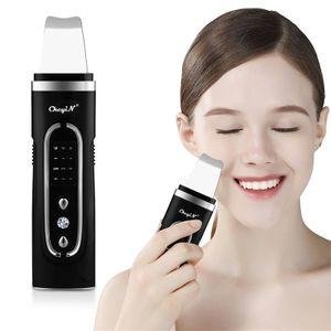 CkeyiN Skin Scrubber Ultraschall-Hautwäscher EMS-Mikrostrom Gesichtspeelings Mitesserentferner Tiefenreinigung Gesichtsmassagegerät(Schwarz)