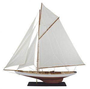 Großes Modell Segelschiff, Renn Segelyacht, Regatta Yacht, Gaffel Yacht