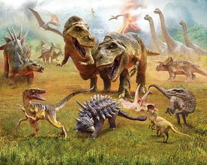 Fototapete Dinosaurier Land Papiertapete