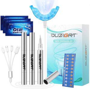 Professionelle Zahnaufhellung Kit,Teeth Whitening Kit,Zahnbleaching Gel,Kalte leichte Bleaching Zähne,Wiederholte Bleaching Kit für Weisse Zähne zu Hause verwendet