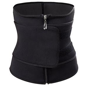 Fajas Colombianas Body Shaper Abnehmen Wickelgürtel Taille Cincher Korsett Trainer Größe:XXL,Farbe:Schwarz