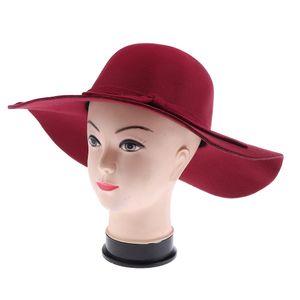 1 Stück Frauen Fedora Hut Farbe Navy blau
