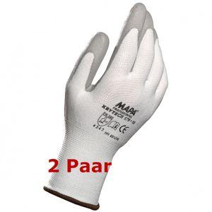 MAPA Krytech 579 Größe 7  weiß Schnittschutz Handschuh Polyurethan besch. 2 Paar
