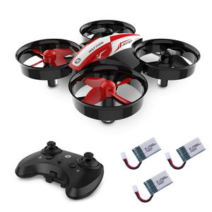 Holy Stone HS210 Mini Drohne RC Ferngesteuert Quadrocopter Drone mit 3 Akkus für Anfänger Kinder in Rot