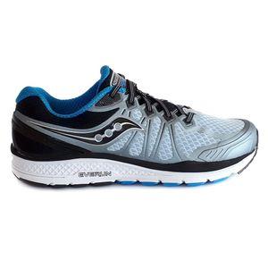 Saucony Schuhe Laufschuhe weich gepolsterte Herren Sportschuhe Echelon 6 Grau, Größe:49