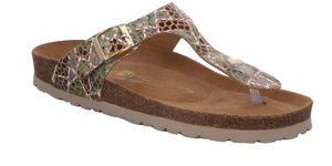 Rohde Alba Damen Sandale Sandalette Zehentrenner , Farbe:Braun (Camel), Größe:EUR 38