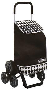 Gimi Tris Optical Einkaufstrolley schwarz Trolley Einkaufstasche
