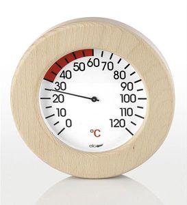 Eliga Thermometer für Infrarotkabine im Holzrahmen Ø155mm
