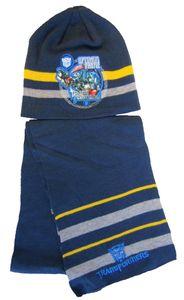 Transformers Mütze und Schal Set für Kinder Dunkelblau 54