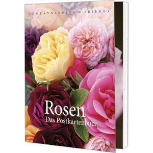Postkartenbuch Rosen Postkartenbücher Ansichtskarte Postkarte Blumen Blume Rose