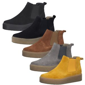 Tamaris Damen Stiefeletten Leder Boots 1-25813-25, Größe:39 EU, Farbe:Grau