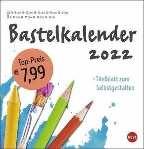 Bastelkalender 2022 groß weiß