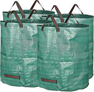 4x Gartenabfallsack Laubsack 272Liter = 72L | bis zu 50kg belastbar | zusammenfaltbar | Gartensack Gartentasche Rasensack