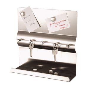 Schlüsselbord 18/0 m. 5 Magneten 0,9mm Schlüsselkasten Schlüsselaufbewahrung