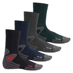4 Paar Trekking-Socken mit Frotteesohle - All Colours 43-46