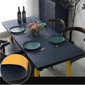 Leder Wachstuch-Tischdecke Wachstischdecke Tischwäsche Abwaschbar Wachstuchdecke Tischschutz ,80X140CM
