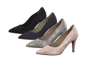 Tamaris 1-22494-22 Damen Schuhe Pumps Leder, Größe:36 EU, Farbe:Blau