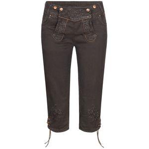 Jeans-Kniebundlederhose Ovida in Braun von Hangowear, Größe:34, Farbe:Braun