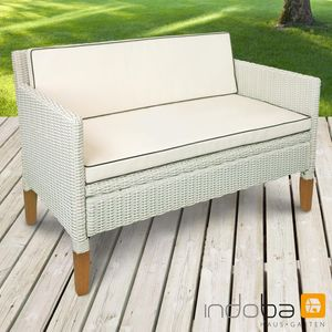 Sofa 2,5-Sitzer Havanna - Polyrattan und Holz - Serie Havanna - IND-70127-SO