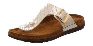 Rohde 5868 Rodigo Damen Zehentrenner Pantoletten Zehensteg, Größe:40 EU, Farbe:Gold