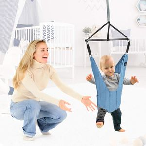 COSTWAY Baby Tuerhopser laengenverstellbar, Tuer Schaukel, Tuerrahmen Jumper inkl. Tuerklammer, fuer Kleinkinder von 6-12 Monate, blau