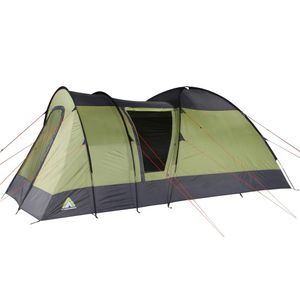 10T Mailand 4 - 4 Personen Kuppelzelt, Campingzelt mit riesiger 8,6 m² XXL Schlafkabine, wasserdichtes Trekking Zelt mit