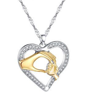 Gold Finish Mutter Baby Halskette Muttertag Geschenk Gold